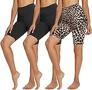 """TNNZEET 3 Pack Biker Shorts for Women – 8"""" Buttery Soft High Waisted Yoga Cycling Workout S"""