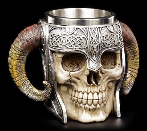Vikingo calavera Krug - Walhalla THOR ODIN Loki Edad Media Vaso de precipitados Jarra de Cerveza Calavera
