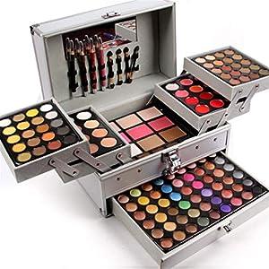 JasCherry Paleta de Sombras de Ojos 132 Colores de Maquillaje Set Kit de alta Calidad Cosmético – Incluye sombra de ojos y Corrector Camuflaje y Polvo compacto y Rubor polvo y Brillo labios