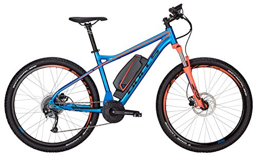 Bulls E-Bike Modell Big Free (2017) Elektrofahrrad 27.5 Zoll, E-Mountainbike - Lithium Ionen Akku, 400Wh, 8 Gang-Kettenschaltung, blau-orange