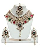 Lucky Jewellery Magenta Green Alloy Chai...