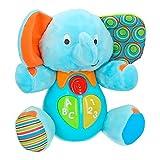 Winfun - Peluche Elefante para bebés que habla & luces de colores -...