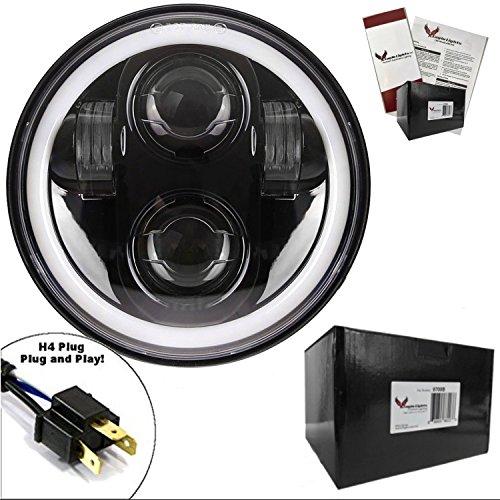 0,2cm Daymaker Generation II LED Scheinwerfer mit Weiß Halo Ring (Halo-lichter Für Autos)
