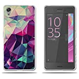 Sony Xperia X Performance / Dual F8132 Hülle, FUBAODA [Bunte Box] Transparente Silikon TPU Fashion Kreatives Design Anti-Scratch Smart Schutz Stilvolle Silikon Slim Fit Shockproof Flexibel für Sony Xperia X Performance / Dual F8132