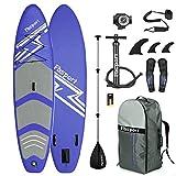 FBSPORT Tavola da SUP, Stand Up Paddling SUP Board Gonfiabile Spesso 15 cm, Pagaia Regolabile, Set Tavola Remo Laccio Zaino Pompa