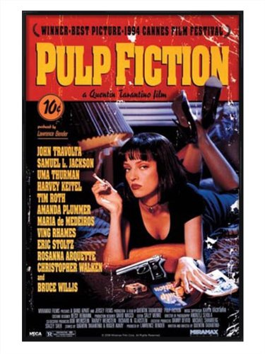 film-gloss-black-framed-poster-featuring-quentin-tarantinos-pulp-fiction-61x915cm