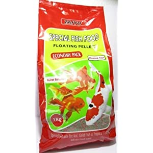 COLOURFUL AQUARIUM Special Floating Fish Food Pellets (1kg, Economy Pack)