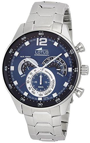 Foto de Reloj de pulsera de la marca Lotus. Analógico, con mecanismo de cuarzo, para hombre, acero inoxidable