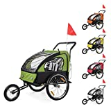 SAMAX Children Bike Trailer 2in1 Kids Jogger Stroller with Suspension Bicycle Trailer Transport