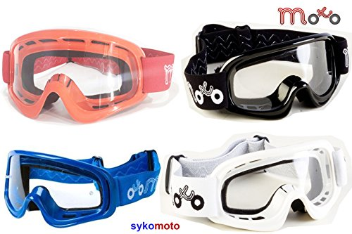 X1K BOYS AND GIRLS QUAD ATV OFF ROAD ENDURO MOTOCROSS MOTORCYCLE RACES PROTECTIVE GOGGLES (WHITE)