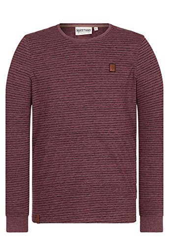 Herren Langarmshirt Naketano Hosenpuper Langen V T-Shirt