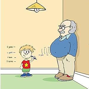 Twizler Carte Humoristique Avec Petit Fils Grand Pere Toise Et