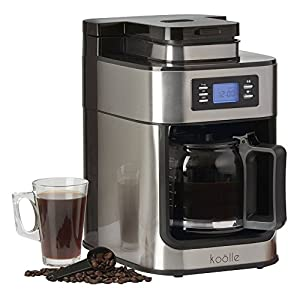 Electric Filter Coffee Machine Programmable Digital Display with 24 Hour Timer, 10 Cup Capacity 1000W by Koölle