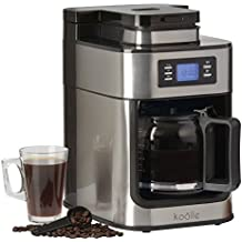 Electric Filter Coffee Machine Programmable Digital Display with 24 Hour Timer, 10 Cup Capacity 1000W by Koölle (with Bean Grinder)
