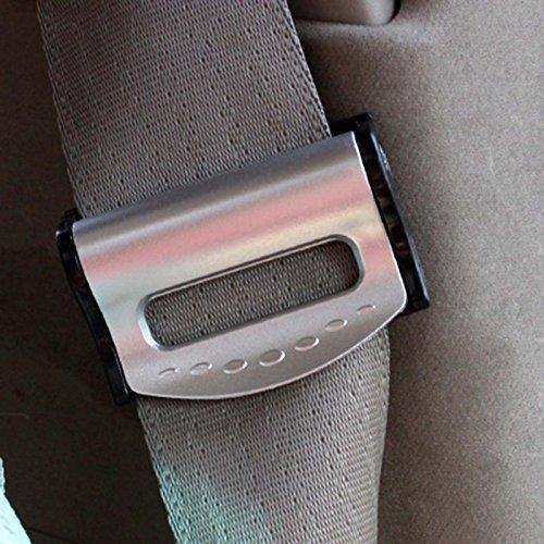Sicher Auto-Sicherheitsgurt befestigt Träger verstellbar Verriegelungsschnalle - Silber