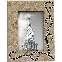SouvNear Fatto a mano rettangolare bianco foto foto cornice in MDF & Bone Inlay–decorativo supporto da tavolo accessori camino e decorazioni, Home Decor