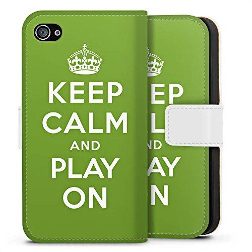Apple iPhone X Silikon Hülle Case Schutzhülle Keep Calm Games Konsole Sideflip Tasche weiß