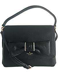 b4fd82e642c Kate Spade New York Rosewood Place Coralie Bow Leather Crossbody (Black)