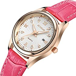 Ladies leather strap watch/Waterproof quartz watches/Simple casual female form-M