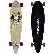 Gemtune WIN.MAX 9 skateboard strati di acero modello di cranio / volto umano di tipo Surf Highway Longboard - Longboard Rotolo