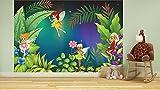 selbstklebende Fototapete - Kinderbild - Feenwiese - 100x65 cm - Tapete mit Kleber – Wandtapete – Poster – Dekoration – Wandbild – Wandposter – Wand – Fotofolie – Bild – Wandbilder - Wanddeko