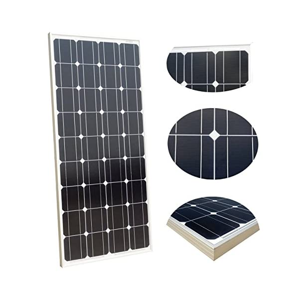 ECO-WORTHY 12 Volt 100 Watt Monocrystalline Solar Starter Kit: 1pc 100W Mono Solar Panel + 20A LCD Solar Controller + 30Ft Solar PV Cable with MC4 Connectors + Z Mounting Brackets 3