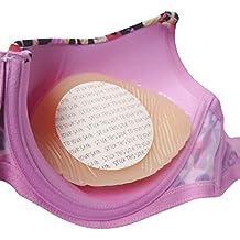 Jo Thornton–boobylicious–Cinta de doble cara adhesiva discos de 8cm–asegura formas de mama y pecho para piel transparente 40 rayas