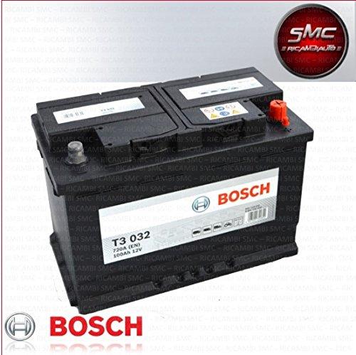 Batteria avviamento BOSCH 100Ah 720 A 12V T3 NUOVA ORIGINALE MODELLO TRUCK TOR