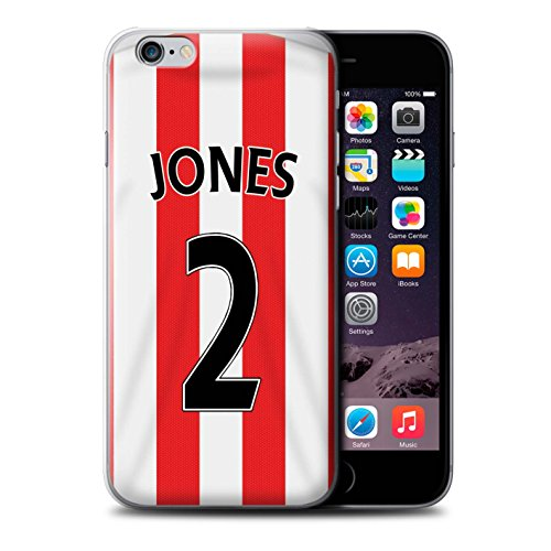 Offiziell Sunderland AFC Hülle / Case für Apple iPhone 6S+/Plus / Pack 24pcs Muster / SAFC Trikot Home 15/16 Kollektion Jones