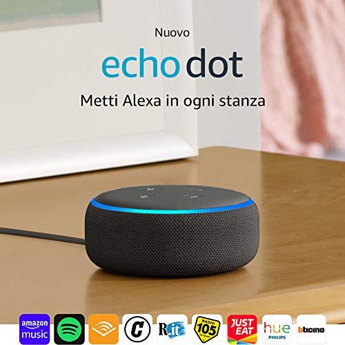 Echo Dot (3ª generazione) Tessuto antracite