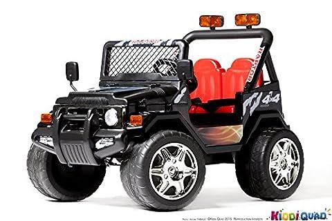 4X4 électrique pour enfant Jeep noir, 12 volts - 7Ah,