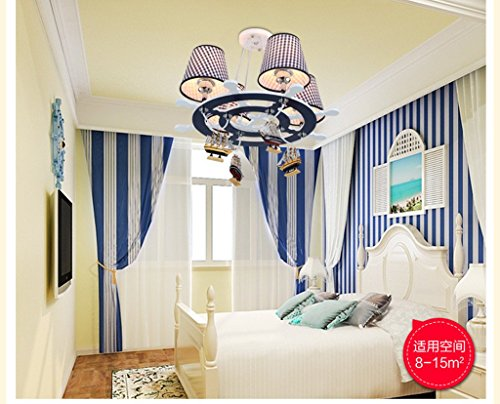 Die neue Steuer Mittelmeer LED-Leuchter kreative Schlafzimmer Auge Lampe Junge Kinder-Cartoon-Kunst - 4