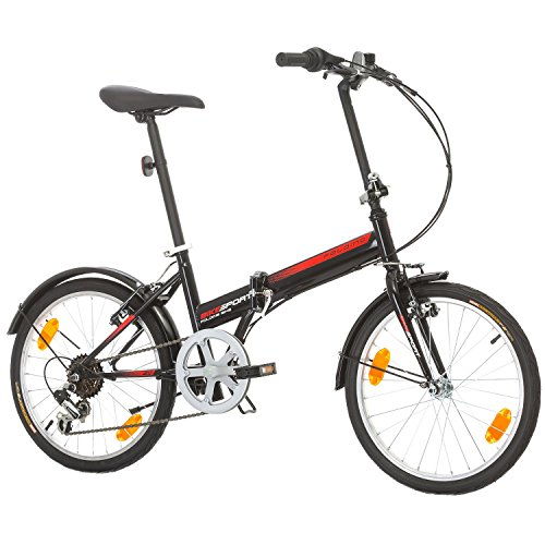Bikesport FOLDING Bike 20 inch wheels Shimano 6 gears (Black)