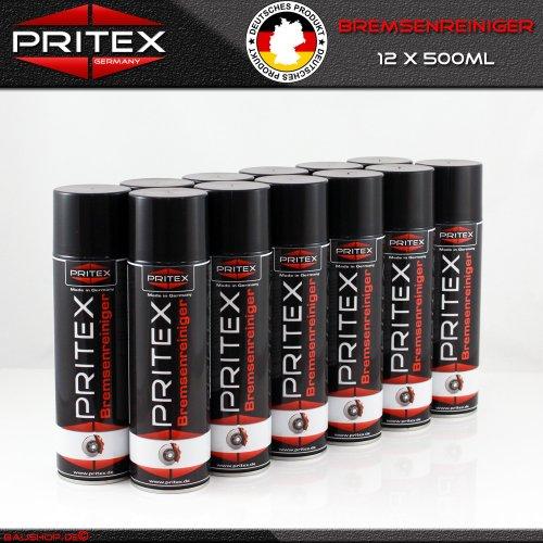 Preisvergleich Produktbild Bremsenreiniger 12 x 500ml Teilereiniger (EUR 3,40/L inkl. MwSt.) Bremsen Reiniger Spray PRITEX Qualität