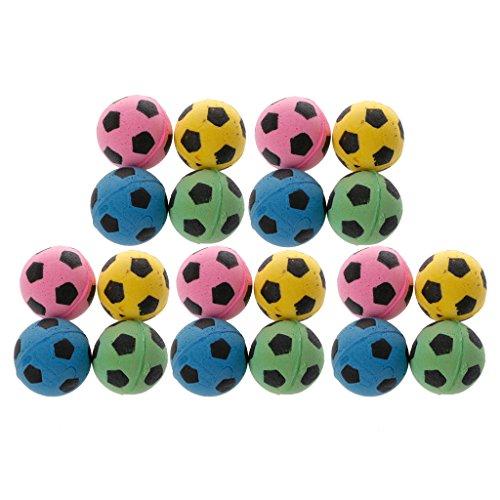 Kottca 20PCS Non-Noise Cat Eva Ball Soft Foam Soccer Play Balls for Cat Scratching Toy