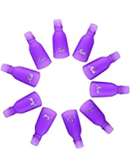 Tränken Weg Nagel-Clips Entferner Wrap Nagel Werkzeug, 10 Stück (Lila)