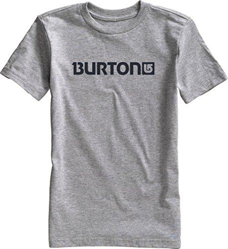 Burton, Maglietta a maniche corte Bambino Logo Horiztl, Grigio (Gray Heather), S
