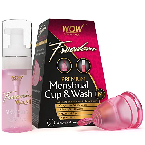 Wow Freedom Reusable Menstrual Cup and Wash Pre Childbirth - Medium (Under 30 Years)