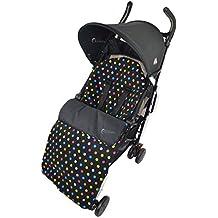 Forro polar saco/Cosy Toes Compatible con Maclaren Techno XT XLR Quest Volo Multi Color Dots