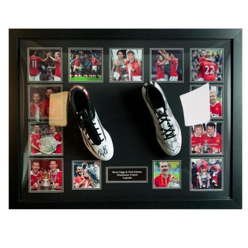 Manchester United F.C. Giggs & Scholes Signed Boots (Dual Framed) Official Merchandise