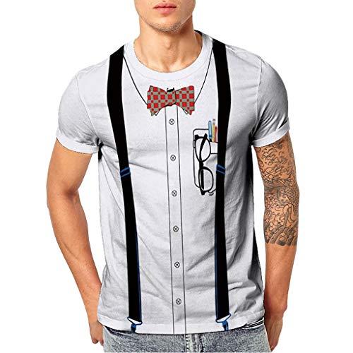 Homebaby maglietta da uomo eleganti vintage t-shirt top a maniche corte con stampa occhiali da sole fit fitness tops casuale palestra estive camicie uomo slim