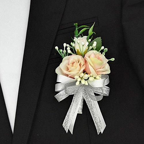rsages Prom Bräutigam Braut Hochzeit Blume Handgelenk ansteckblume (Ansteckblume Hochzeit)
