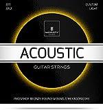 Gitarrensaiten Westerngitarre  Premium Stahl Phosphor Bronze Saiten für Western-Gitarre & Akustikgitarre (6 Saiten-Set) + E-Book