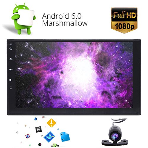 Android 6.0Touchscreen Auto Stereo-foiioe 17,8cm Zoll Doppel-Din in Dash Auto Radio Video Player mit Bluetooth Autoradio Wifi Phone Link GPS Navigation System SWC OBD 3G 4G