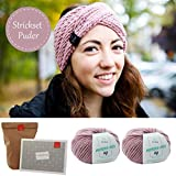 MyOma Stirnband Stricken *DIY Stirnband Wintertraum* Strickset rosa: 2X Merinowolle
