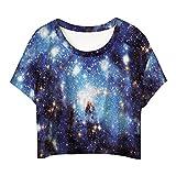MingTai Damen Kurzarm Basic Sport T-Shirts Rundhals-Ausschnitt T Shirt Print Damen Tops Coole Fun Shirts Emjoy Ausdruck Short Lässigem Hemd