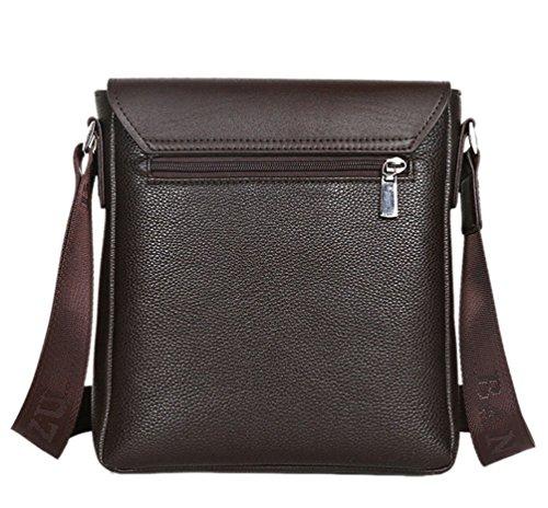 YOUJIA Herren Casual Vintage Messenger Umhängetasche PU-Leder Crossbody tasche für Schule Business Büro (#2 schwarz) #2 Braun