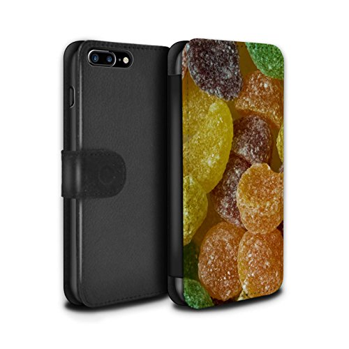 Stuff4 Coque/Etui/Housse Cuir PU Case/Cover pour Apple iPhone 7 Plus / Fruit Pastilles Design / Bonbons Collection Fruit Pastilles