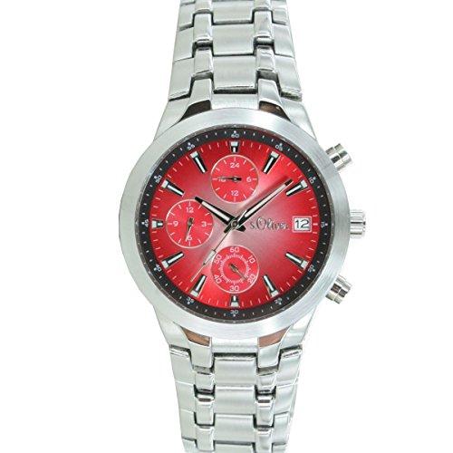 s. Oliver Men's Quartz Watch with Black Dial Analogue Display Quartz Chronograph So 50-15059-32MCR