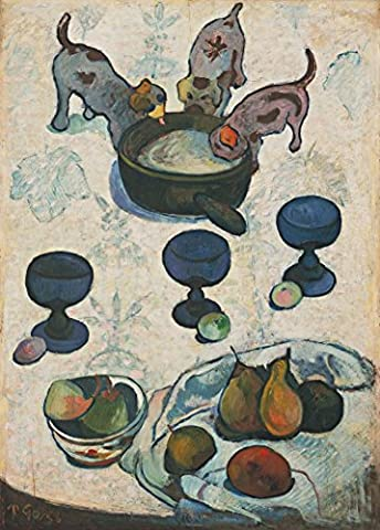 PAUL GAUGUIN Still Life with Three Puppies c1888 250gsm Gloss